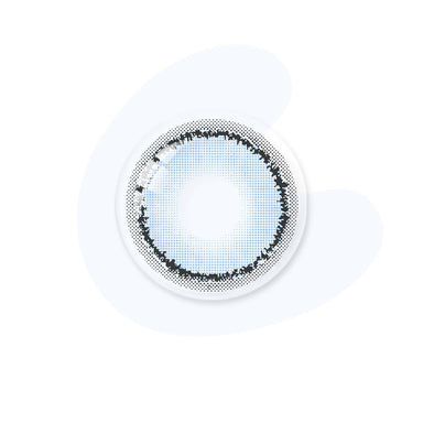 Sky blue color lenses real shot