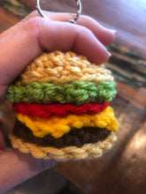 Load image into Gallery viewer, Cheeseburger keychain