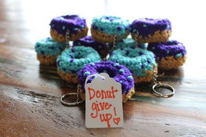 Suicide Prevention Donut Keychain