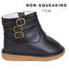 Presley Black Ankle Boot (NON-SQUEAKING)