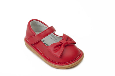 Shoes - Bow Shoe Red