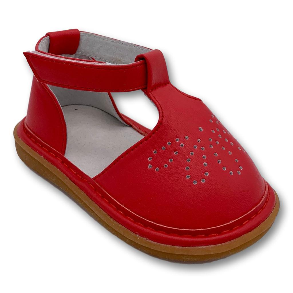 Shoes - Molly Red T-Strap Shoe
