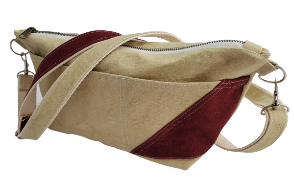 Acacia / Maroon CAROL Mini Crossbody - Small Batch Design Company, LLC