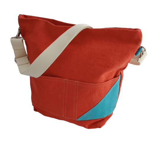 Deep Coral / Deep Aqua MEREDITH Crossbody - Small Batch Design Company, LLC