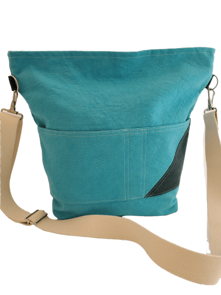 Deep Aqua / Dark Green MEREDITH Crossbody - Small Batch Design Company, LLC