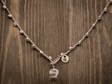 Load image into Gallery viewer, Silver Metal Beaded Necklace