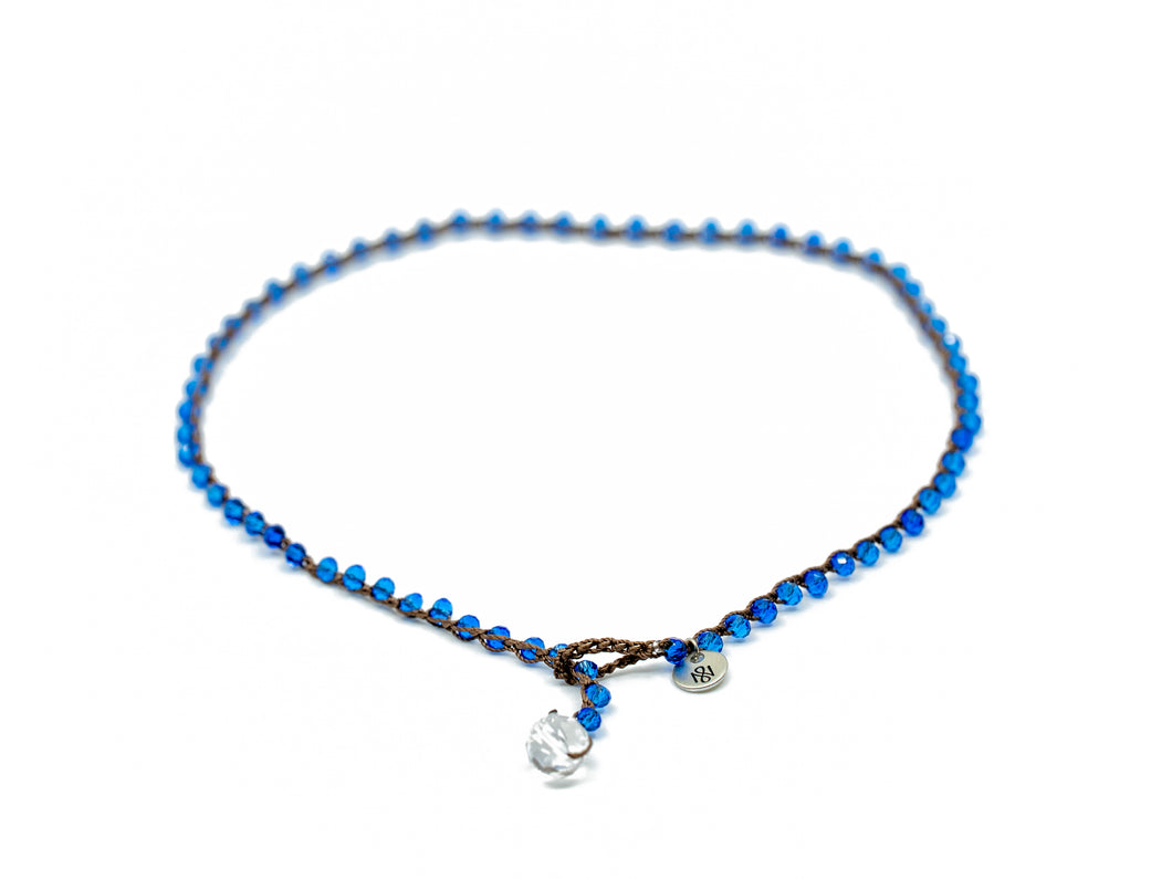 Blue Faceted Beaded Necklace