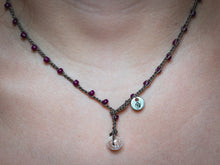 Load image into Gallery viewer, Plum Purple Seed Beads Beaded Necklace