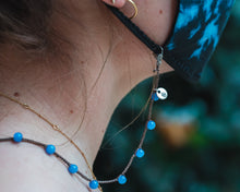Load image into Gallery viewer, Blue Beads - Face Mask Lanyard