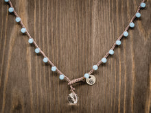 Load image into Gallery viewer, Light Blue Glass Beaded Necklace