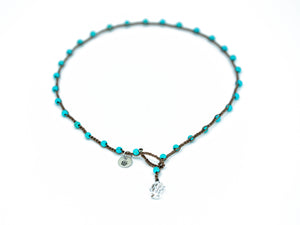 Howlite Dyed Turquoise Stones Necklace