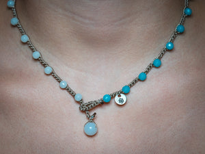 Blue Green Ombre Gradient Necklace