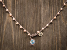 Load image into Gallery viewer, Pink Bamboo Beaded Necklace