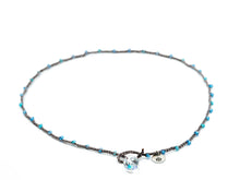 Load image into Gallery viewer, Blue Mixed Rondelle Beaded Necklace