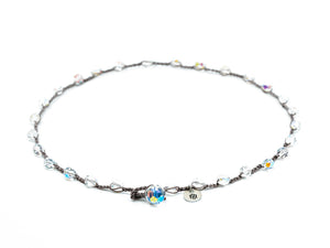 Large Crystal Glass Faceted Beaded Necklace