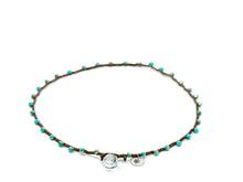 Load image into Gallery viewer, Turquoise Glass Beaded Necklace