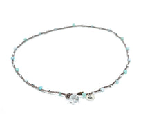 Load image into Gallery viewer, Aqua and Silver Mixed Beaded Necklace