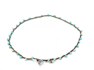 Aqua Mix Glass Beaded Necklace