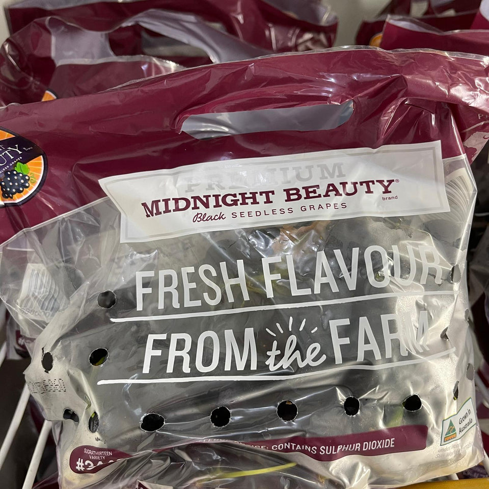 Black Seedless Grapes Midnight Beauty x 1 Pkt