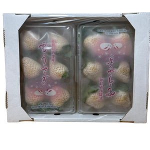 Japan Premium White Strawberries x 1 pkt (6 Straws)