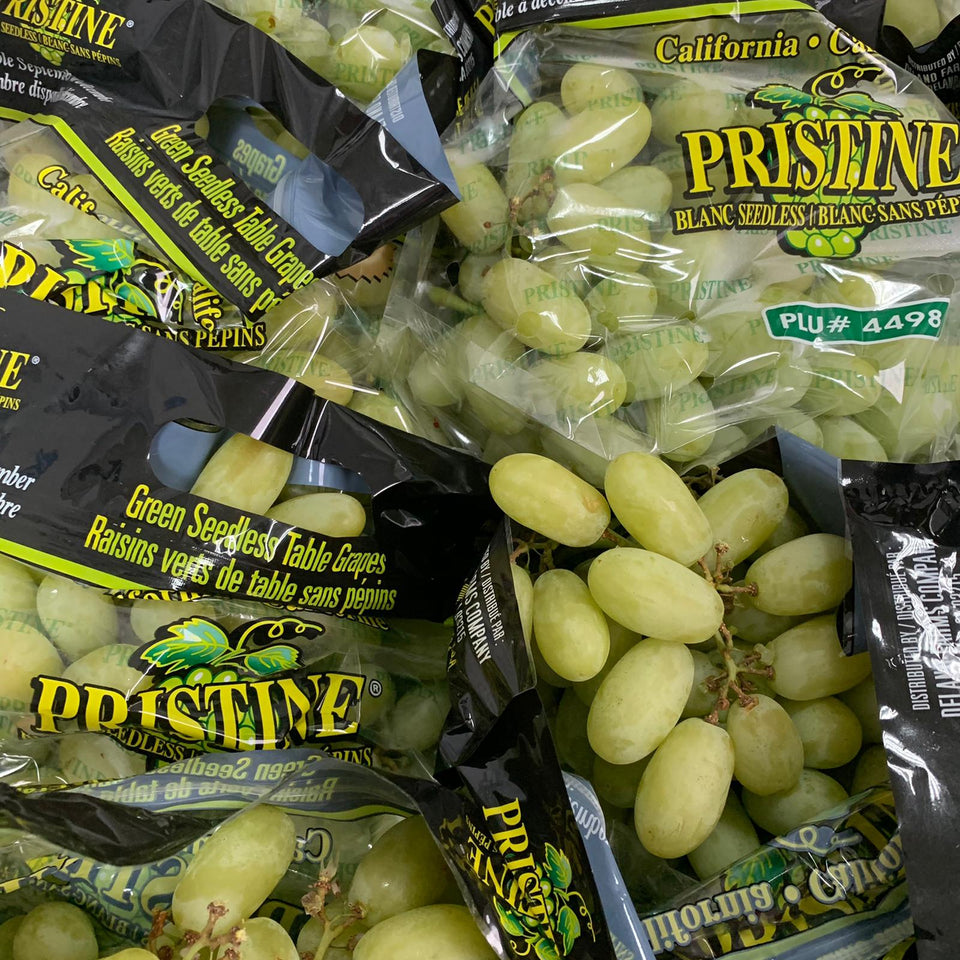 Pristine Crunchy Sweet Green Grapes