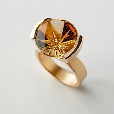 Golden Starflower Ring