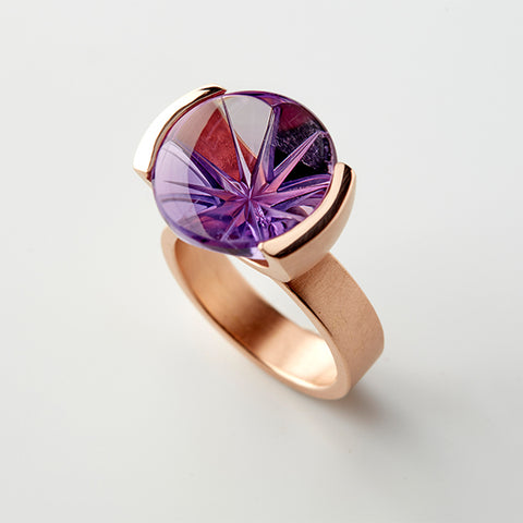 Purple Starflower ring