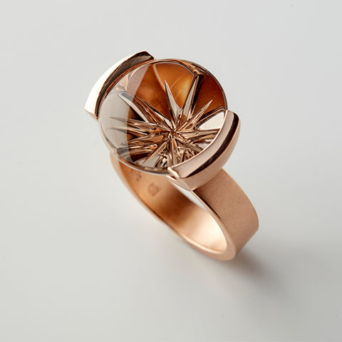 Smokey Starflower Ring