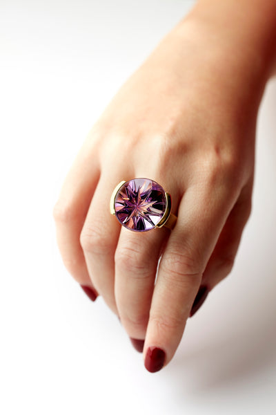 purple starflower ring, rembrandt jordan