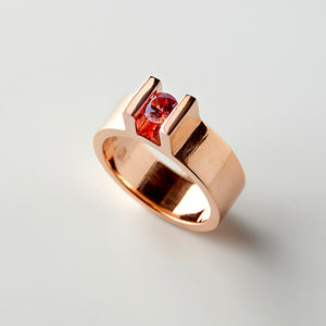 Tension Ring Red Sapphire