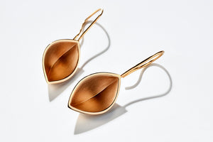 Gold sculptural earrings