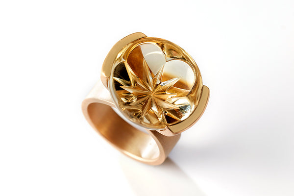 golden starflower ring citrine, rembrandt jordan