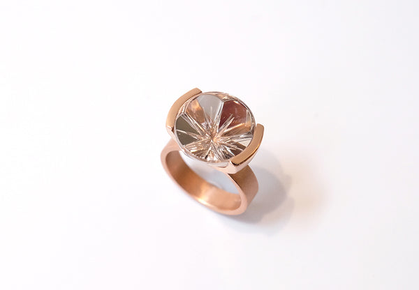 Lilac Starflower ring  (16mm stone)