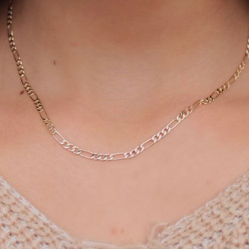 14k Gold Figaro Layering Chain