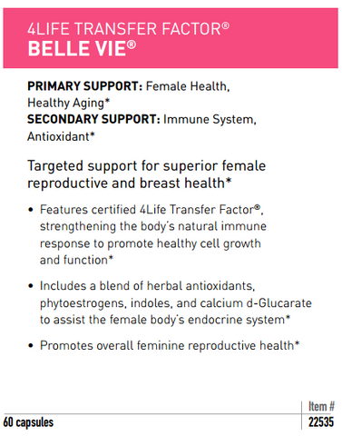 Benefits of Transfer Factor Belle Vie