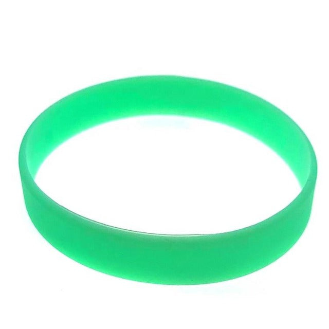 freecare.me® branded nano silver Anti bacterial silicone embedded RFID chip plus QR code bracelet. Green color.