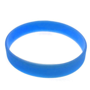 freecare.me® branded nano silver Anti bacterial silicone embedded  RFID chip plus QR code bracelet. - Blue color.