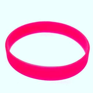 freecare.me® branded nano silver Anti bacterial silicone embedded  RFID chip plus QR code bracelet. - Red color.