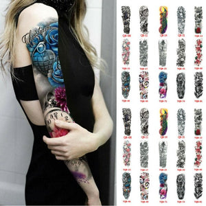 Hot selling for Men & Women Waterproof  Fake Full Arm Sleeve Temporary Tattoo Sticker.