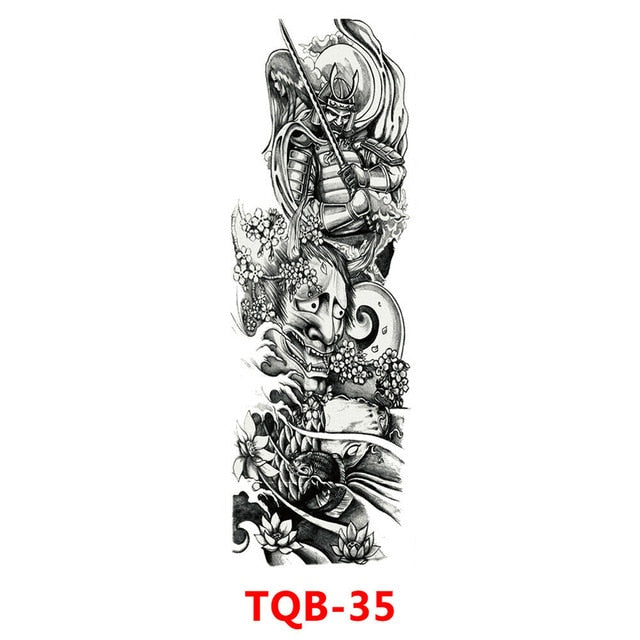 Hot selling items for Men & Women Waterproof  Fake Full Arm Sleeve Temporary Tattoo Sticker.