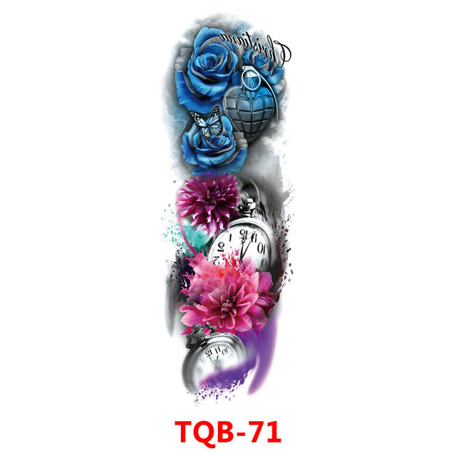 Hot selling item for Men & Women Waterproof  Fake Full Arm Sleeve Temporary Tattoo Sticker.