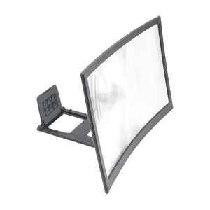 12inch Mobile Phone Curved Screen Amplifier HD 3D Video Mobile Phone Magnifying Glass Stand Bracket Phone Foldable Holder New