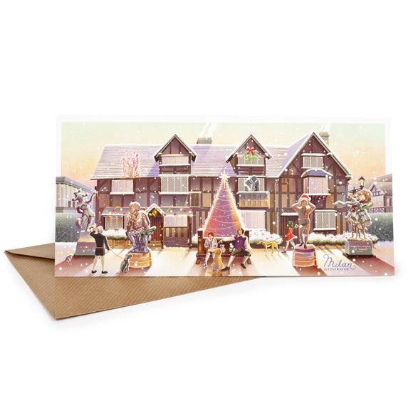 Christmas Card Shakespeare's Birthplace & Monuments