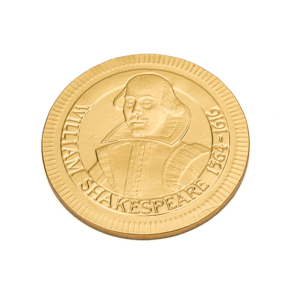 Shakespeare Chocolate Coin
