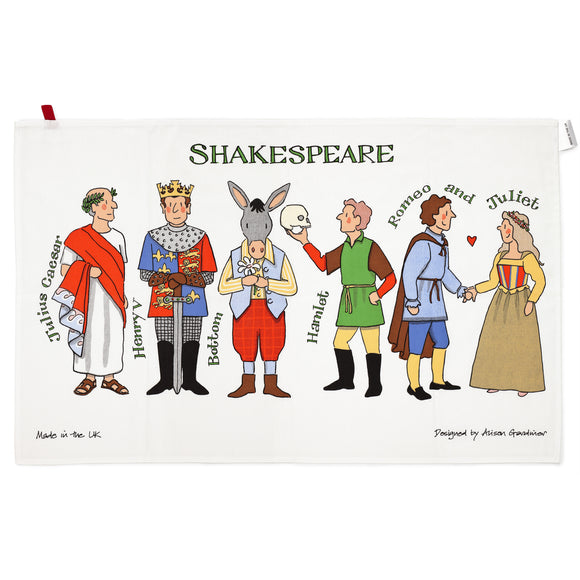 Shakespeare's Characters Tea Towel