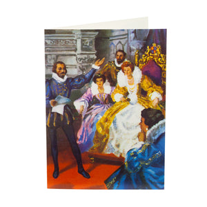 Greetings Card Shakespeare meets Elizabeth I