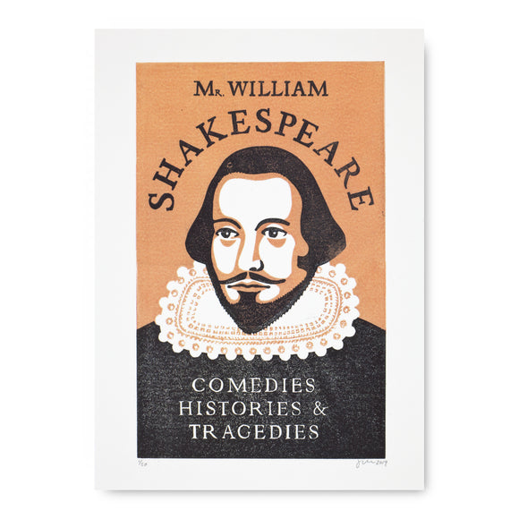 Shakespeare Portrait Postcard by James Brown