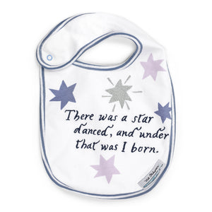 Star White and Blue Baby Bib