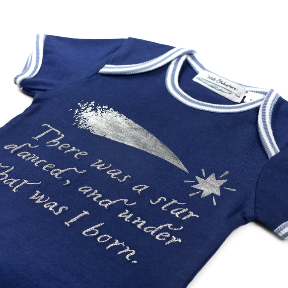 Star Navy Blue Babysuit
