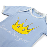Crown Sky Blue Babysuit